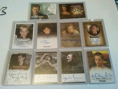 Autograph trading card Lot LOTR Game of thrones American horror pop century