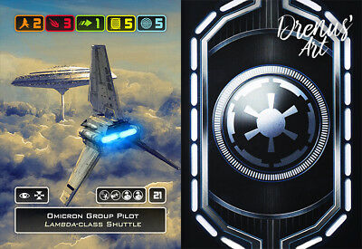 X-Wing Miniatures - Custom Alt Card - Omicron Group Pilot (Lambda-class Shuttle)