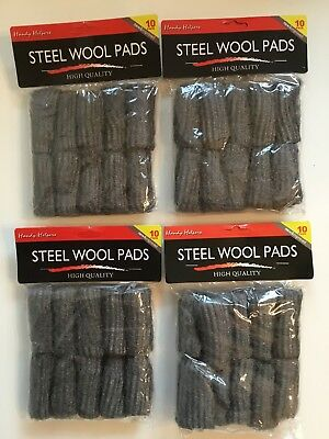 40 Pc Stainless Steel Wool Pads Kitchen Bathroom Wire Cleaning Ball Pan Cleaner
