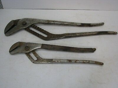 Snap-On Blue-Point Adjustable Slip Joint Pliers Set HL-116P and HL-112P USA Made
