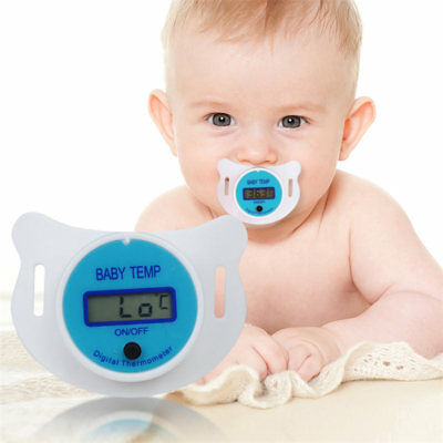 Digital Safety Practical Mouth Nipple Temperature Baby LCD Pacifier Thermometer