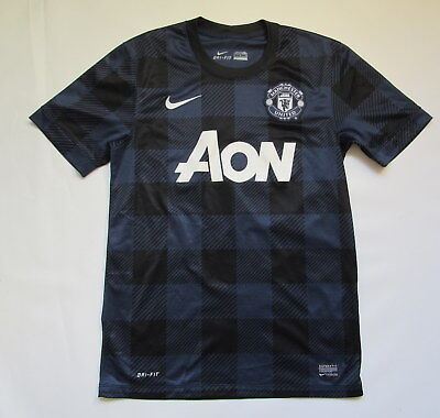 7db282c3e MANCHESTER UNITED away jersey shirt NIKE 2013-14 trikot Red Devils adult  SIZE S
