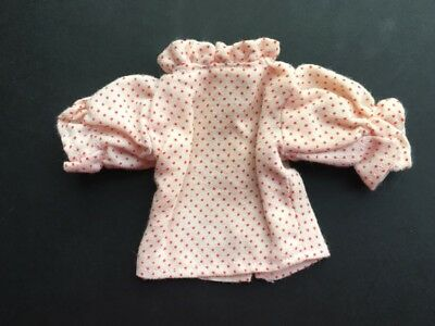 White red polka dot puff sleeve top doll clothes fit Sindy Barbie SHIMMYSHIM
