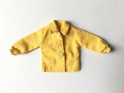 Yellow 70s style blouse long sleeves doll clothes fit Sindy Barbie SHIMMYSHIM