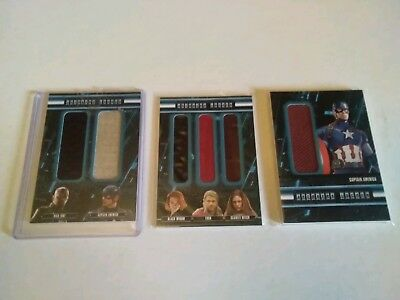 Avengers age of ultron Trading Card Lot Costumes memorabilia Thor CPT America
