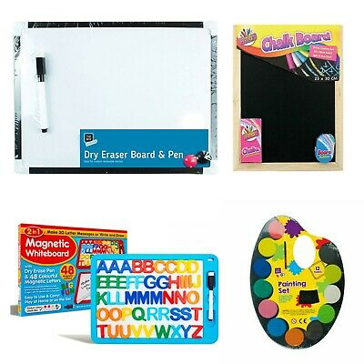 4pcs 29.5cm White Board & Pen Set,2 Magnets Ideal for Kids/Office Notice Board