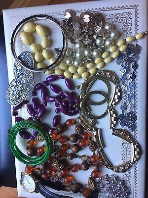 Joblot job lot of mixed vintage and modern costume jewellery # 13