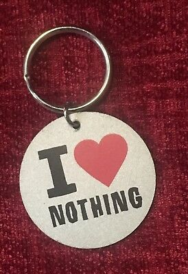 Emily The Strange I Love Nothing Keychain Retired Rare Goth Creepy Spooky Kitty