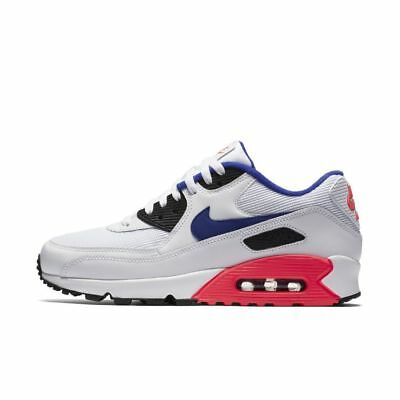 check out 363e7 9742f Nike Air Max 90 Essential 537384-136 White Solar Red Black Ultramarine Pink  Blue