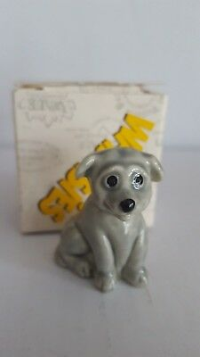 Wade Whimsies Grey Puppy & Box