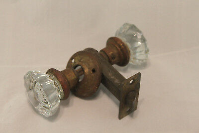Antique Victorian Chesler 12 point Glass Door Knob