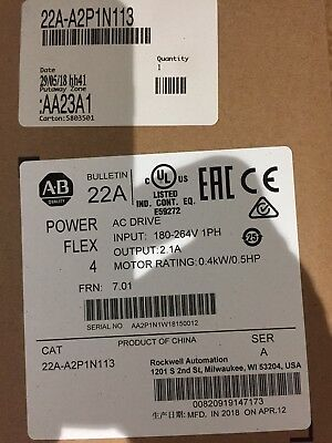 ALLEN BRADLEY POWERFLEX 4 VARIABLE SPEED DRIVE 0.4kw