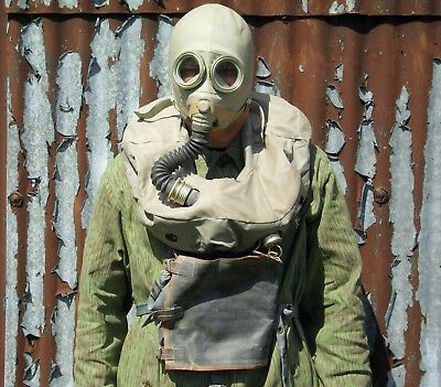 Polish / Russian Army Ip-5 Rebreather Gas Mask - With Hose & Bag - Sale Price