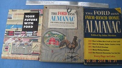 Ford Motor Co. - 1954 + 55 Almanacs + Employee Book - Metuchen Assembly Plant -