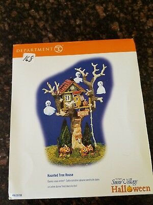Department 56 Halloween Snow Village Haunted Tree House