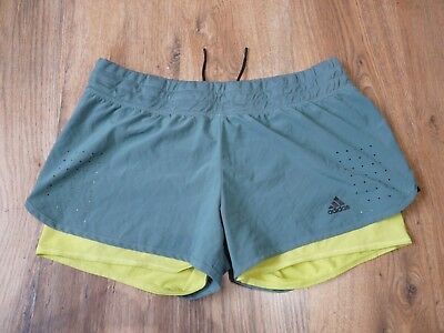 Womens Adidas Climalite Shorts With Inner Tight Size 16-18 Large D42-44 (S232)