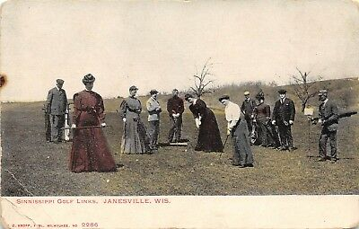 Wi~Wisconsin~Janesville~Sinnissippi Golf Links~Women Playing Golf~Early~Pc9089
