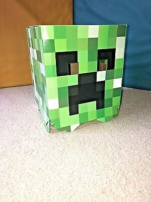 UNISEX . Mindcraft Creeper Cardboard Box Green Head Halloween Costume