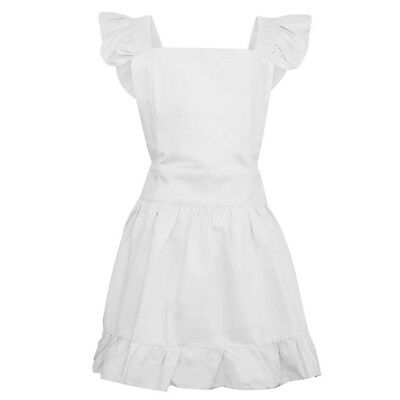 Aspire Adjustable Cotton Ruffle Aprons with Pockets Adults & Kids Maid Costume