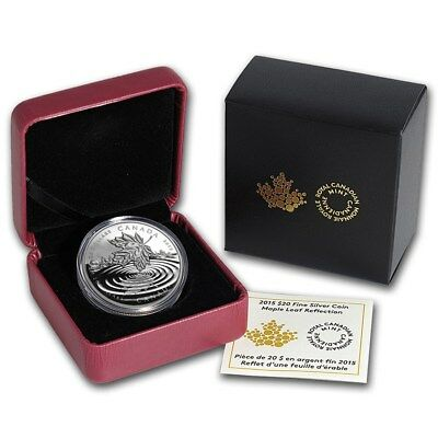 Canada 2015 20$  Maple Leaf Reflection 1 oz Silver Proof Coin