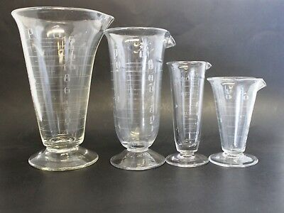 Whitall Tatum Phoenix? Footed Conical Apothecary Etched Glass Measuring Beaker 4