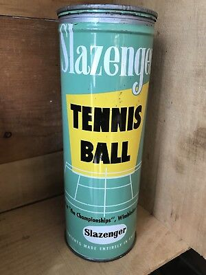 Vintage Slazenger Tennis Ball Empty Tin