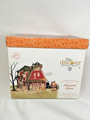 Department 56 Halloween Haunted Barn Snow Village 4 Piece Gift Set 2001