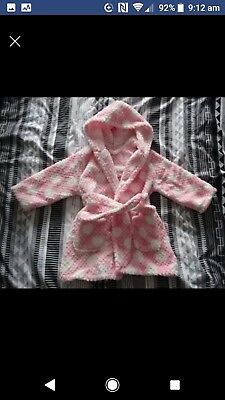 Baby girl dressing gown pink
