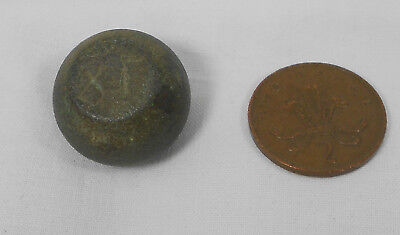Roman-Byzantine Empire Barrel Bronze Commercial Coin Weight Engraved 81.1 gr.