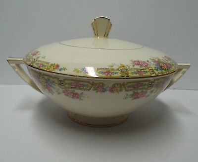 "Vintage Edwin M. Knowles China Co. Handled Casserole Covered Dish ""Hostess"""