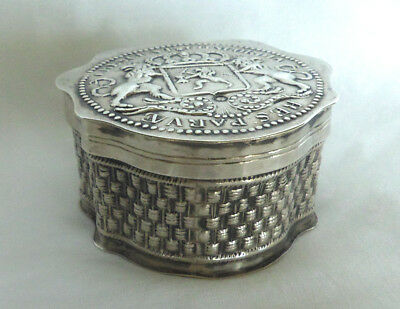 Antique Dutch Silver snuff / tobacco / peppermint box