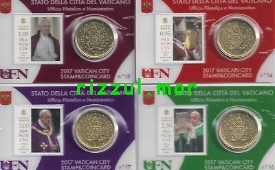 Coin Card 2017 Vaticano 50 Cent Coat Of Arms Coincard Stemma