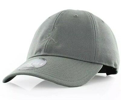 805d18325def0 NIKE AIR JORDAN JUMPMAN HERITAGE 86 ADJUSTABLE HAT 847143 018 River Rock  Sage