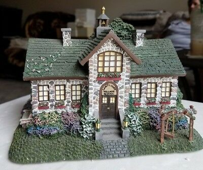 HawthorneVillage Thomas Kinkade - Lamplight Village School w/broken swing
