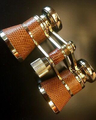 TASCO Opera Glasses / 24K Gold Plated Mini-Binoculars / Vintage