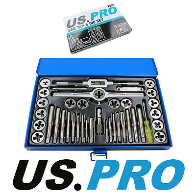 US PRO Tools 40pc SAE / Imperial Tap And Die Set NEW 2626