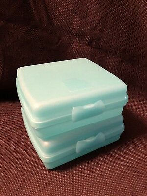 Tupperware 2 Square Sandwich Keeper Locker Adults and Kids