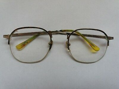 Unisex original vintage glasses spectacles tortoiseshell metal frames retro