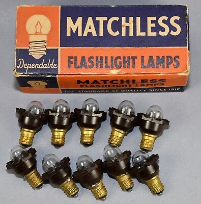 1935 Matchless Wonder Star 100 Series Renewal C-6 Lamps!  Nos!
