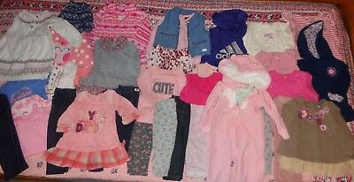 12 month Girl Fall/Winter HUGE lot~CUTE OUTFITS~ 7 Mankind,Gap,Carter's,Oshkosh