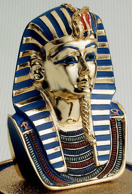 Porcelain Egyptian Pharaoh King Tut Mask Bust Statue Tutankhamun Figurine Mint