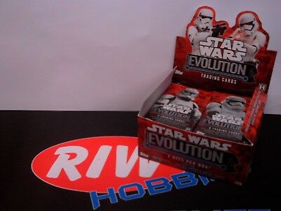 Topps Star Wars Trading Cards Opened Box Containing 21x Packs