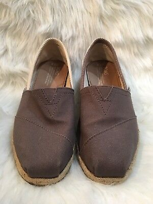 4cec335cfff TOMS Womens Brown Striped Side Classic Canvas Slip On Casual Shoes SZ 7.5 W