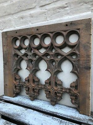 AUTUMN SALE !!! Stunning French Gothic Tracery panel in wood circa 1880 (3)