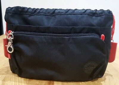 Superb black canvas TINTAMAR VIP business bag liner - handbag organiser - VGC