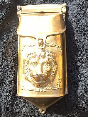Gorgeous Heavy Brass Lion Head Mailbox ~ Vintage ~  Gatco ~ Free Shipping
