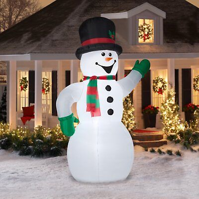 Inflatable Snowman Frosty 10 Ft Blow Up Christmas Holiday Lawn Decoration Large