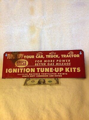 1950's Ampco Car,Truck,Tractor, Ignition Kits Tin Not Porcelain Sign A.M.D. Co.