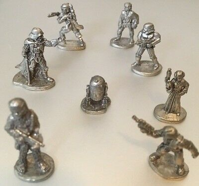 Star Wars Limited Collectors Edition 8 Pewter Tokens From Monopoly.Free Shipping
