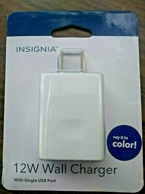 Insignia 12W 2.4A Wall Charger Super Fast Colorful Phone USB Quick Charger USA